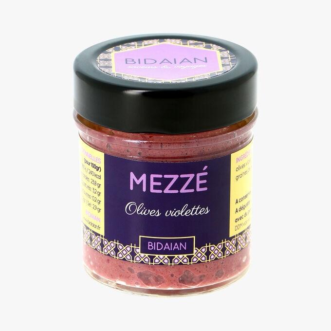 Mezzé, olives violettes Bidaian