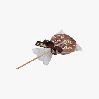 Sucette chocolat au lait et riz soufflé Le Comptoir de Mathilde