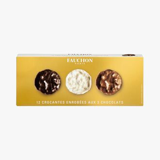Crunchy biscuits coated in 3 chocolates Fauchon