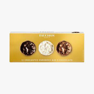 Biscuits Crocante enrobées aux 3 chocolats Fauchon