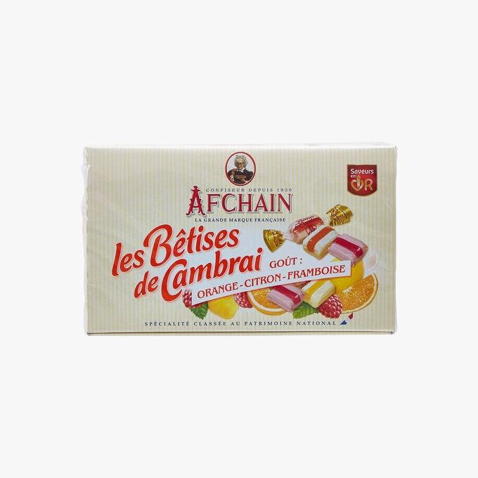 Les Bêtises de Cambrai - goût orange, citron, framboise Afchain