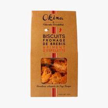 Biscuits fromage de brebis et piment d'Espelette Okina