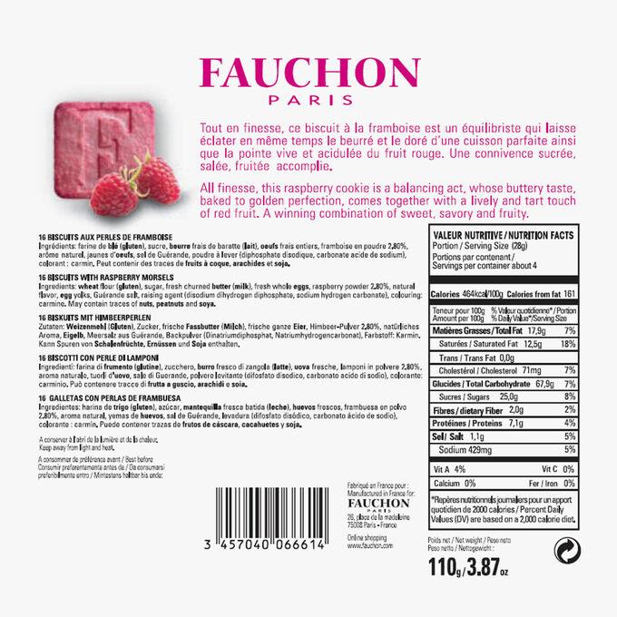 16 biscuits aux perles de framboise Fauchon