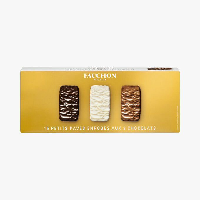 15 fine biscuits coated in 3 chocolates Fauchon