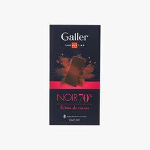Dark 70% cocoa chips Galler