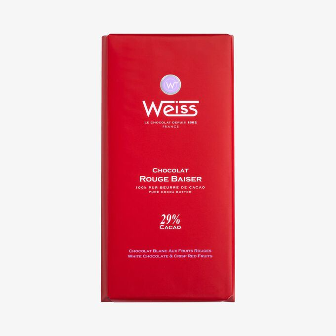 Tablette chocolat rouge baiser Weiss