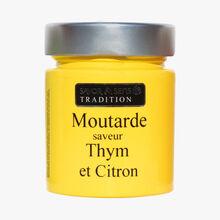 Moutarde saveur citron et thym Savor & Sens