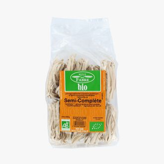 Semi-wholemeal organic tagliatelle Pâtes Fabre