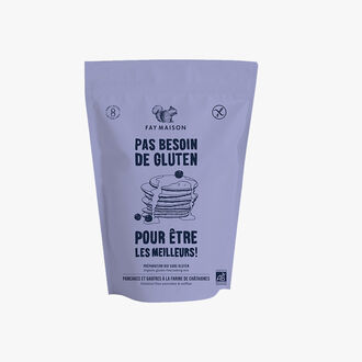 Gluten-free organic mix for pancakes and waffles with chestnut flour. Fay Maison