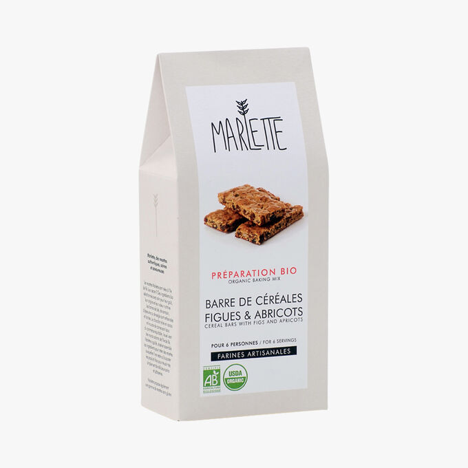 Organic mixture for fig & apricot cereal bars Marlette