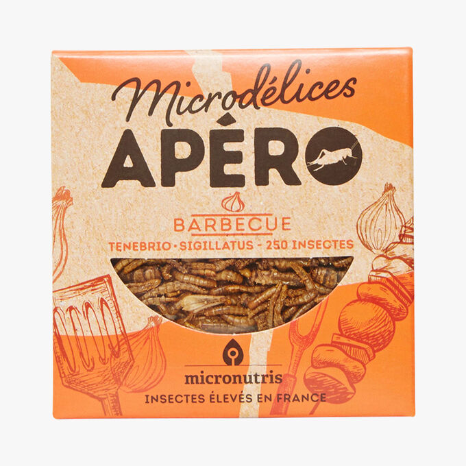 Barbecued flavour appetiser insects Micronutris
