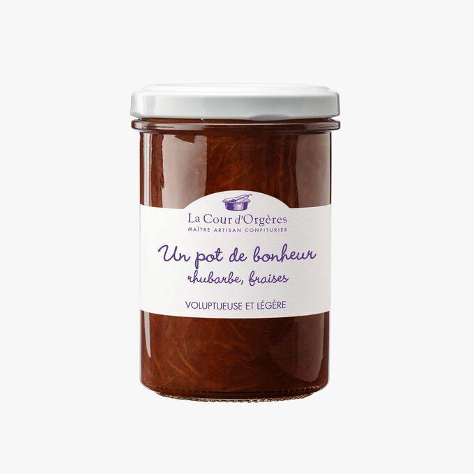 Strawberry and rhubarb fruit mix – 'Un pot de bonheur'  La Cour d'Orgères