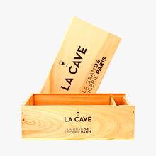 Coffret bois 2 bouteilles La Grande Épicerie de Paris