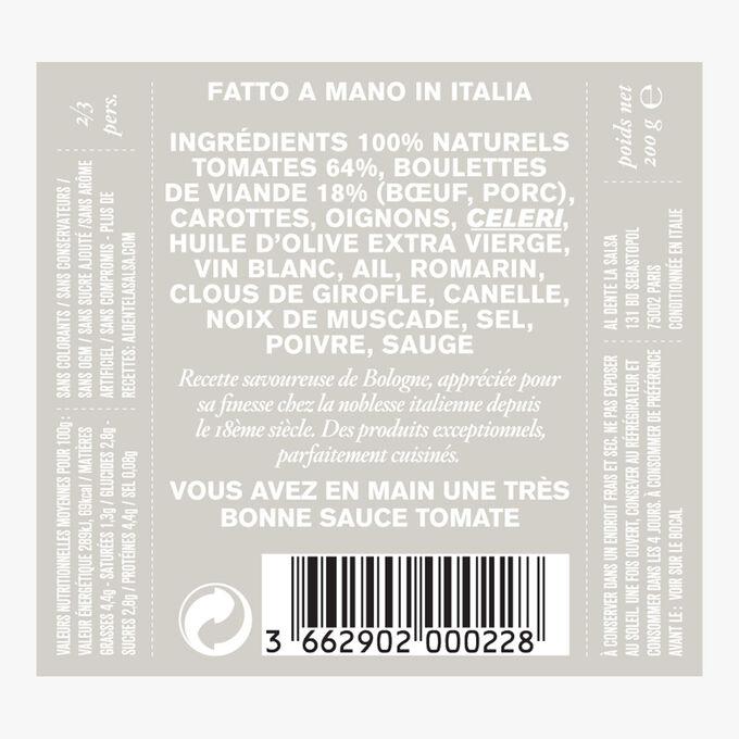 Ragu all'Italiana, tomatoes and meatballs Al dente la salsa