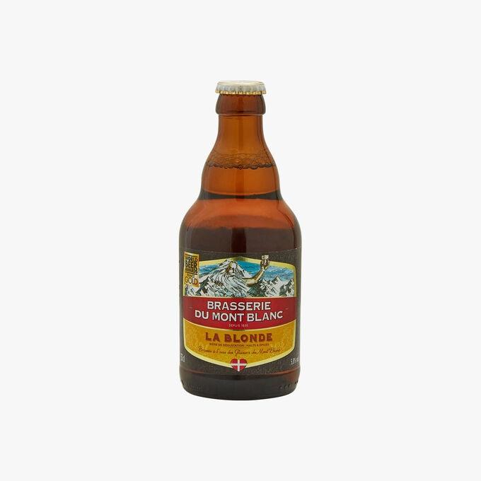 La Blonde - Sampling beer: malts & spices Brasserie du Mont-Blanc