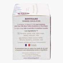 "Infusion ""#running circulation"" - 20 teabags La Tisane du Guide"