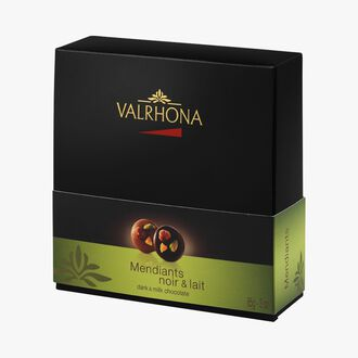 Box of milk and dark chocolate mendiants Valrhona