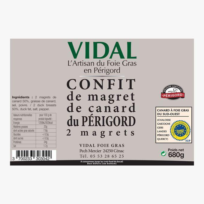 Périgord duck confit – 2 duck breasts Vidal