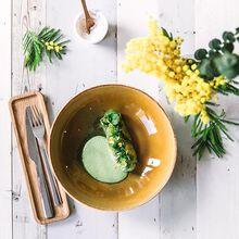 Chilled avocado soup with crab and kiwi Recette proposée par Beatriz Gonzalez