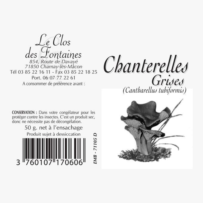 Grey chanterelles Le Clos des Fontaines