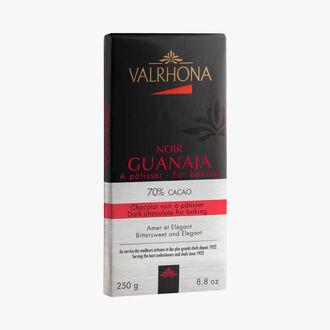Chocolat noir Guanaja à pâtisser (70% de cacao minimum, pur beurre de cacao) Valrhona