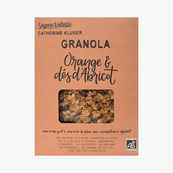 Granola à l'orange et l'abricot SuperNature Catherine Kluger