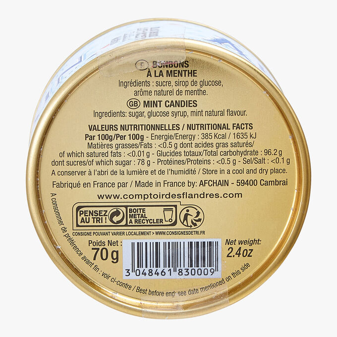 Les Bêtises de Cambrai - Mint - Tin 70 g Afchain