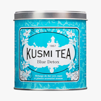 Blue Detox, metal tin Kusmi Tea