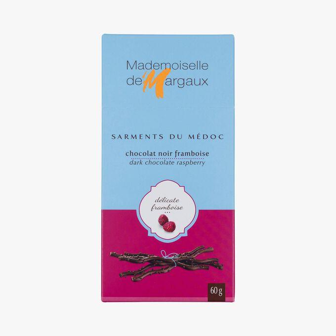 Brins de chocolat noir à l'arôme de framboise Mademoiselle de Margaux