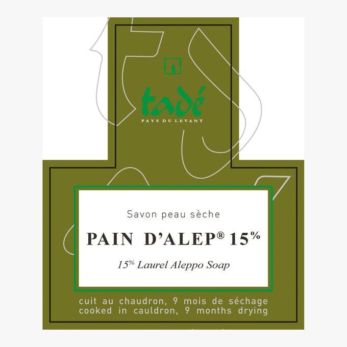 Pain d'Alep 15% , peau sèche Tadé Pays du Levant