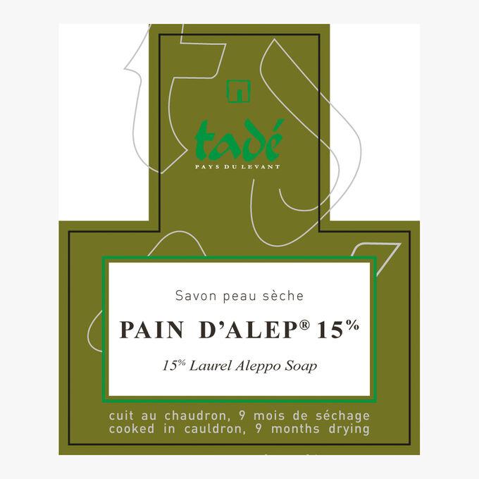 Aleppo Soap 15 %, dry skin Tadé Pays du Levant