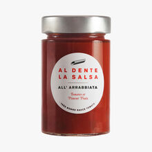 All' Arrabbiata, tomatoes and fresh chili Al dente la salsa