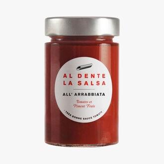 All' Arrabbiata, tomatoes and fresh chili Al dente la salsa