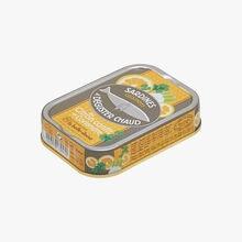 Cooked sardines to enjoy hot with lemon confit and coriander Conserverie la Belle-Iloise