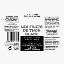 Filets de thon blanc Germon à l'huile d'olive vierge extra La Grande Épicerie de Paris