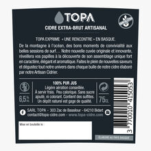 Craft extra brut cider Topa