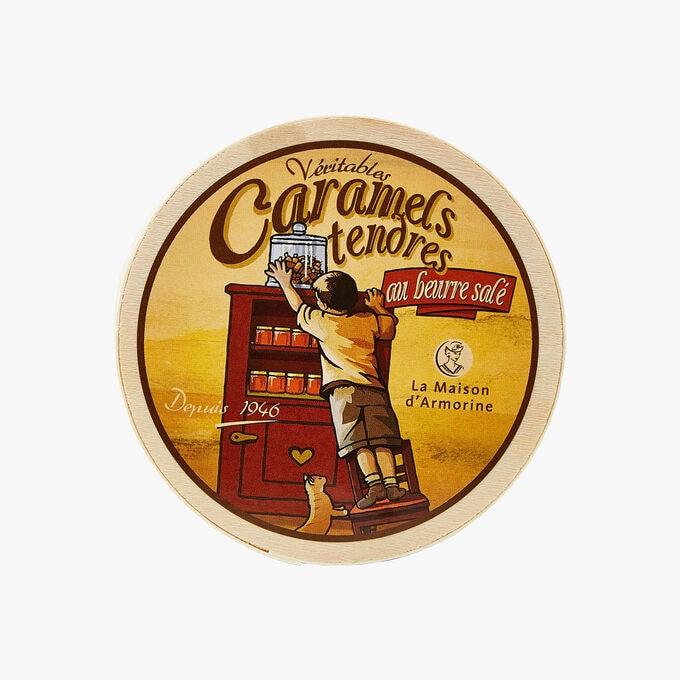 Caramels tendres au beurre salé - Boite bois Il était une fois La Maison d'Armorine