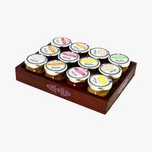 Coffret bois 12 moutardes 25g Reine de Dijon