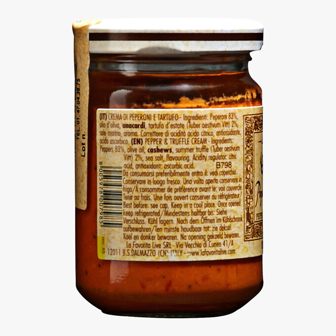 Crème de poivrons à la truffe blanche d'été 2% La Favorita