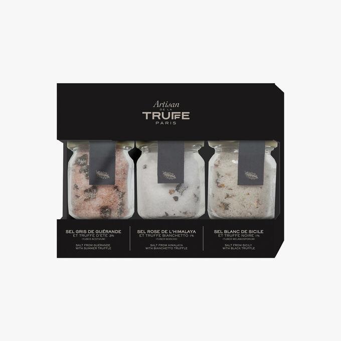 Triple box of mini salts Artisan de la truffe