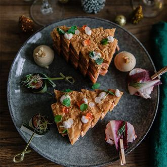 Salmon mille-feuille, , hi-res title=Salmon mille-feuille,