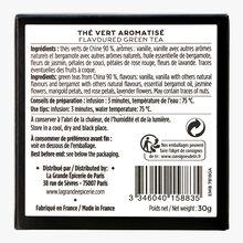 Un parfum d'Orient - Thé vert parfumé au jasmin et vanille 15 sachets individuels La Grande Épicerie de Paris