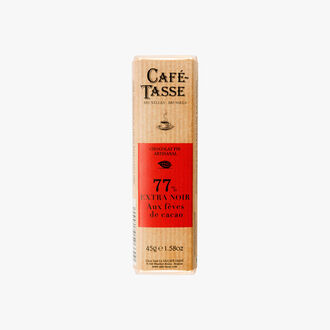 Extra dark chocolate sticks, 77% with cocoa beans Café-Tasse