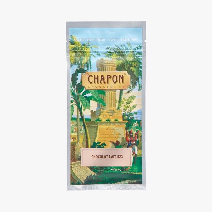 Tablette de chocolat au lait 52% de cacao minimum Chapon