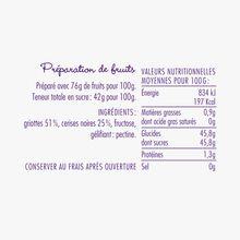 Préparation de fruits griottes, cerises noires - Chéri-Cherry La Cour d'Orgères