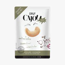 Noix de cajou grillées à sec au poivre et à l'oignon Crazy Cajou