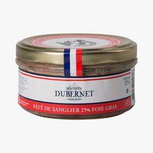 Pâté de sanglier 25% foie gras Maison Dubernet