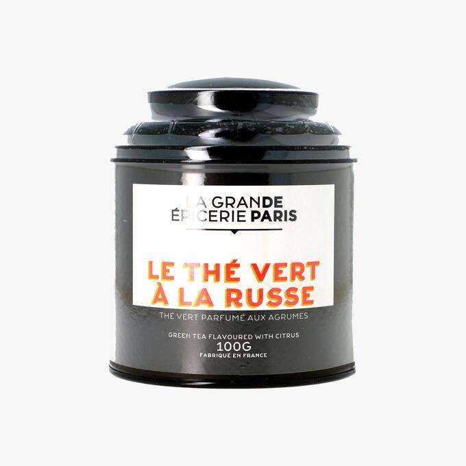 Le thé vert à la Russe, thé vert parfumé aux agrumes La Grande Épicerie de Paris
