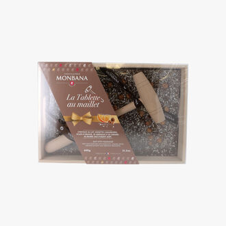 Chocolate Bar and mallet   Chocolaterie Monbana