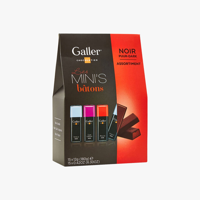 Assortment of dark chocolate mini-batons Galler